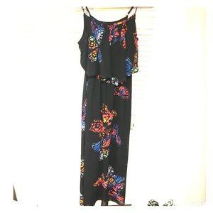 Target Xhilaration butterfly maxi dress